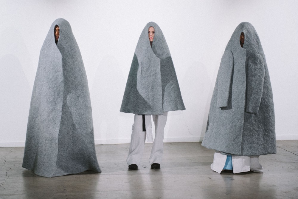Álla Sinkevch, Existental Nomad, Dome Coats - Group of 3, 2018